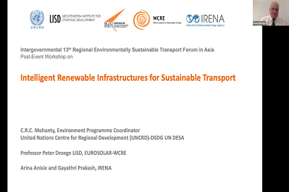 Last week's online workshop on Intelligent Renewable Infrastructures for Sustainable Transport